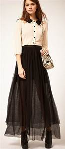 Trendy Casual Maxi Skirt Outfit Ideas for Girls