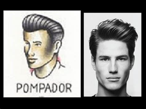 mens tutorial classic  modern pompadour youtube