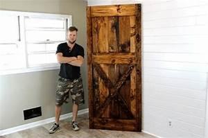 This 40 diy barn door is the rustic touch your home needs for 40 inch barn door