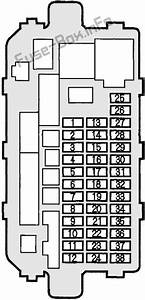 Fuse Box Diagram Acura Integra  2000