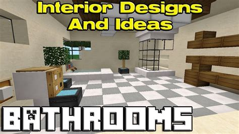 minecraft bathroom furniture ideas minecraft bathroom designs