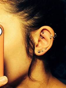 Rook  Double Helix  And Triple Lobe Piercings