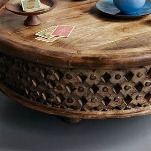 carved wood coffee table west elm With carved mango wood coffee table