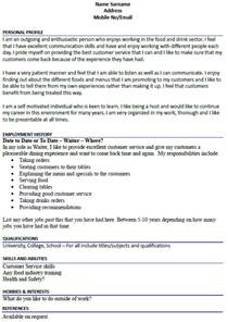 catering waitress resume