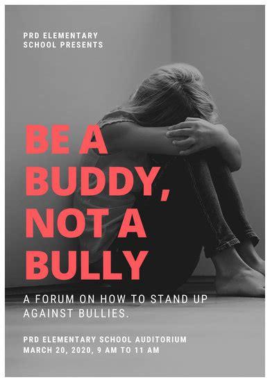 customize  anti bullying poster templates  canva