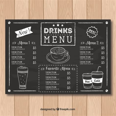 It is a document that helps present the food and. Coffee Menu Vectors, Photos and PSD files | Free Download
