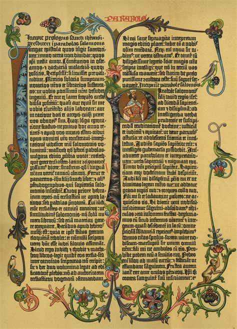 Page From Gutenbergs Bible Inventions Communication