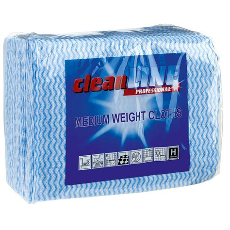 Cleanline Colour-Coded Cleaning Cloths Med Weight x 50
