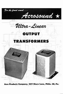 Acrosound Ultra-linear Transformers - Manual