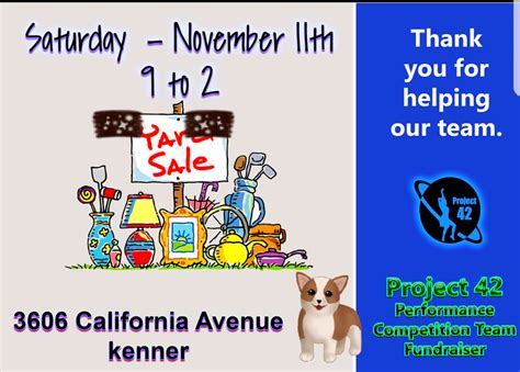Garage Sales Metairie by Fundraising Garage Sale In Metairie Louisiana For 2018