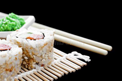 stuoia sushi stuoia di shushi fotografia stock immagine di