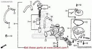 Honda Nx50m Express Sr 1981  B  Usa Carburetor