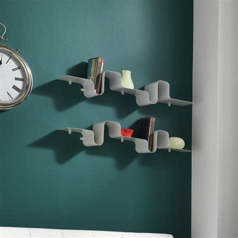 mensola metallo mensola moderna a parete in metallo bianco