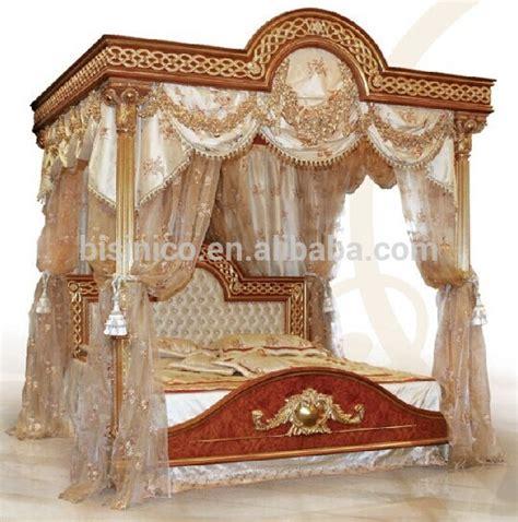 Italian Royal Wooden Bedroom Furniture,luxury Upholstered