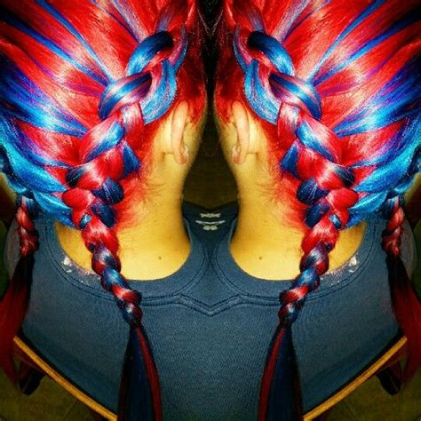 red melts  blue  blue melts  red hair colors ideas