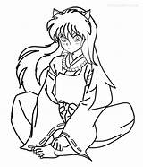 Inuyasha Coloring Pages Printable Cool2bkids Cartoon Sheets Pokemon Painting Drawings Easy Books sketch template