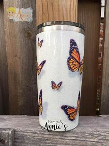 Hamm And Annies  U2014 3d Monarch Butterfly 20oz Stainless Tumbler