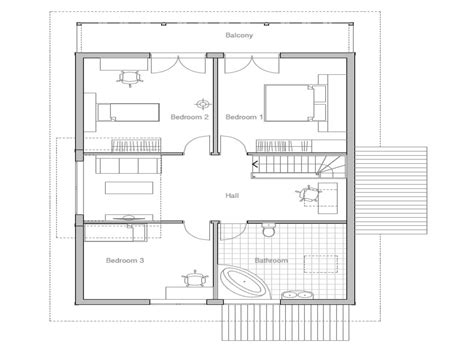 small affordable house plans small  bedroom house plans