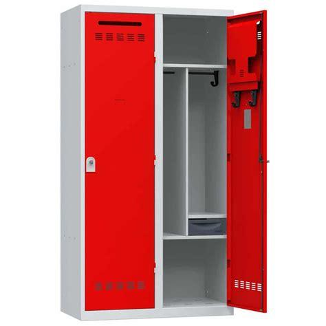 meuble classeur de bureau vestiaire pompier 2 cases armoire plus