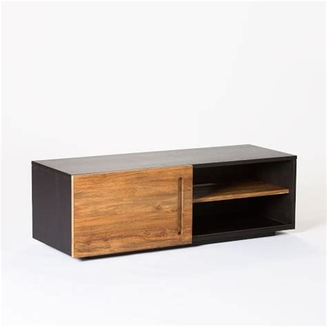 teak media console west elm media furniture furniture