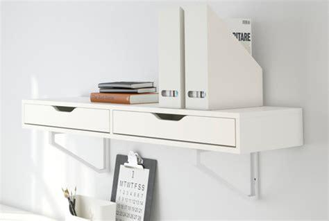 étagère à poser sur bureau etagre murale alex ekby avec tiroir blanc ikea with