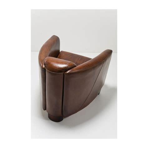 solde canapé fauteuil vintage en cuir marron cigar lounge kare design