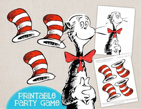 adorable pin  hat   cat dr seuss inspired printable