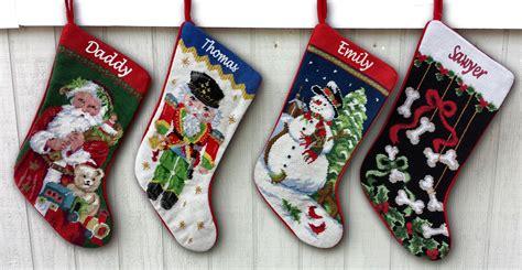 needlepoint christmas stockings personalized santa  eugenie