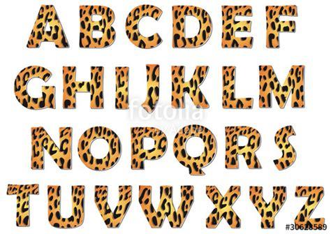 leopard alphabet vector pack imagenes de archivo
