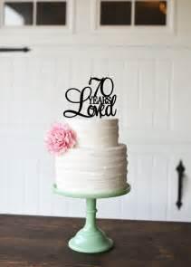 50th wedding anniversary cake topper 70th birthday cake topper 70 years loved cake topper