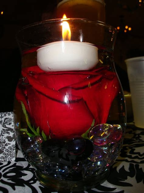 roses centerpieces ideas red rose centerpieces candles wedding red roses hypericum floating candle wedding ideas