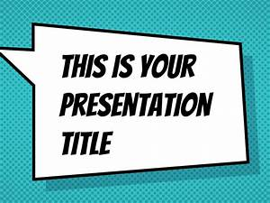 comic book template powerpoint - free powerpoint template or google slides theme with