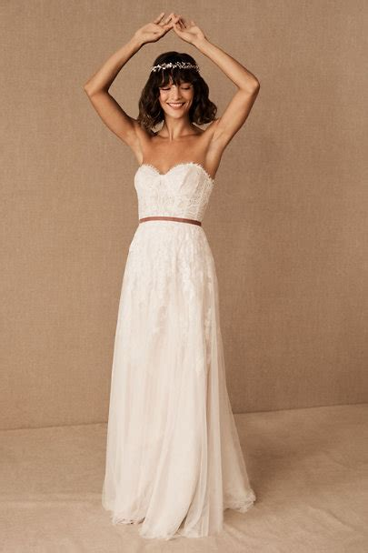 geranium gown ivoryblush  bride bhldn