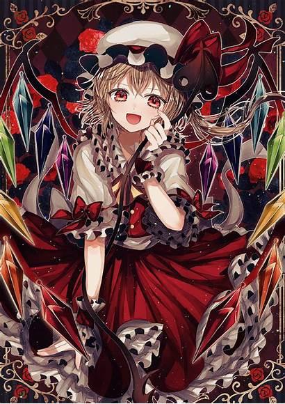 Flandre Scarlet Zerochan Fanart Touhou Mobile Anime