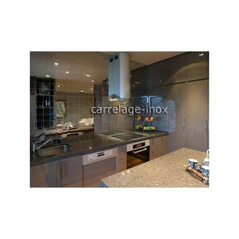 carrelage credence cuisine tile mirror polished stainless steel mosaic credence