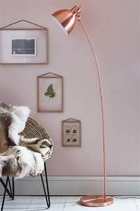 home decor explosive mix copper floor lamps and pink details With elba copper floor lamp