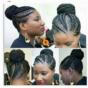 Cute Bun Braids With Ghana Banana Braids In The Mix