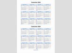 Calendrier 2025 2026 à imprimer gratuit en PDF et Excel