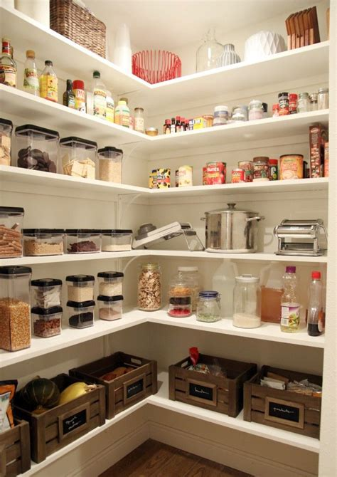 pantry shelving ideas  pinterest pantry ideas