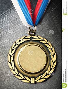 Gray Blue Background Blank Medal Stock Image Image Of Industrial Achievement