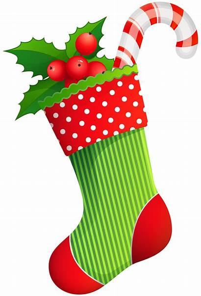 Stocking Clipart Clip Transparent Stockings Holiday Santa