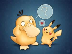 Pokemon Psyduck Pikachu