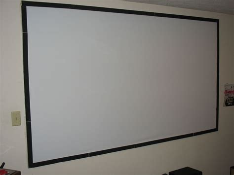 cheap diy  projector screen  steps
