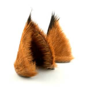 brown cat ears brown black tufted fur leather cat ears limited edition
