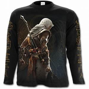 Origins - Bayek - Assassins Creed Longsleeve Black for ...