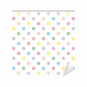 Seamless vector pattern background pastel colorful polka ...