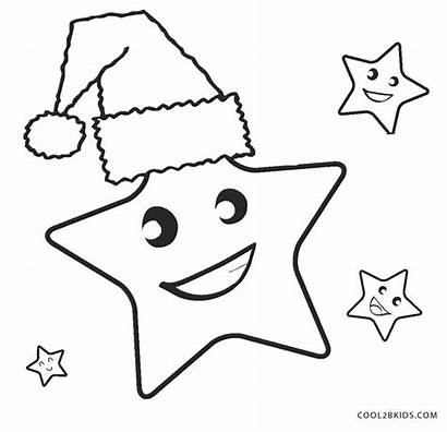 Coloring Star Pages Printable Christmas
