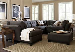 livingroom sectionals metropolis slate 4pc sectional living room living room sets gray