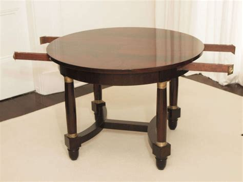 yoyo centre table dining table empire style mahogany center dining table with two