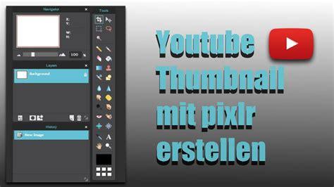yt kanalbild thumbnail selber machen ohne installation mit